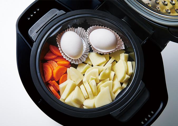 2段同時調理のイメージ