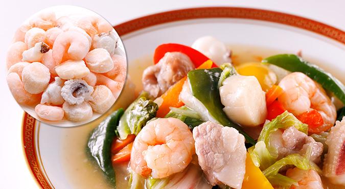 冷凍した肉や魚の料理イメージ