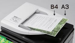 効率的に読み取る両面原稿自動送り装置
