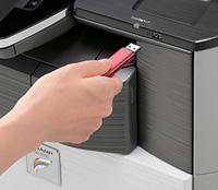 USBメモリーに直接書き込み可能