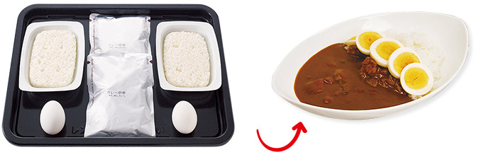 レトルト食品やゆで卵を同時調理